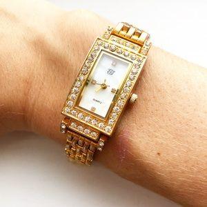 Vintage EG Design gold & diamond elegant watch